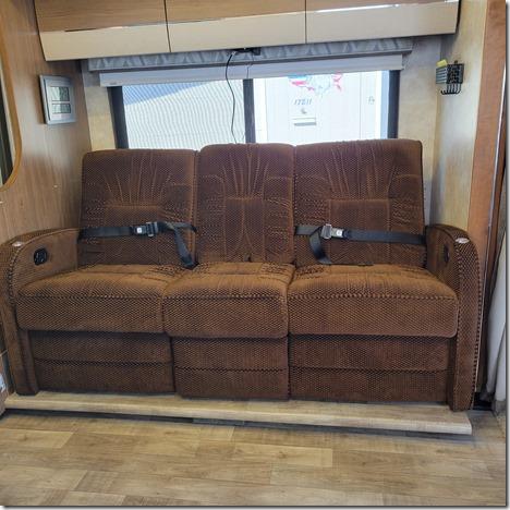 RV dual sofa