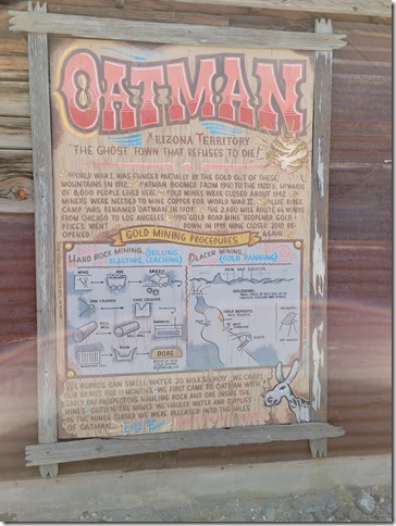 Oatman gold mining