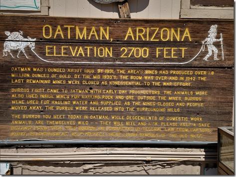 Oatman sign